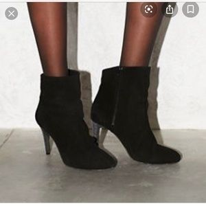 Free People Fairfax Black Suede Bootie Size 38